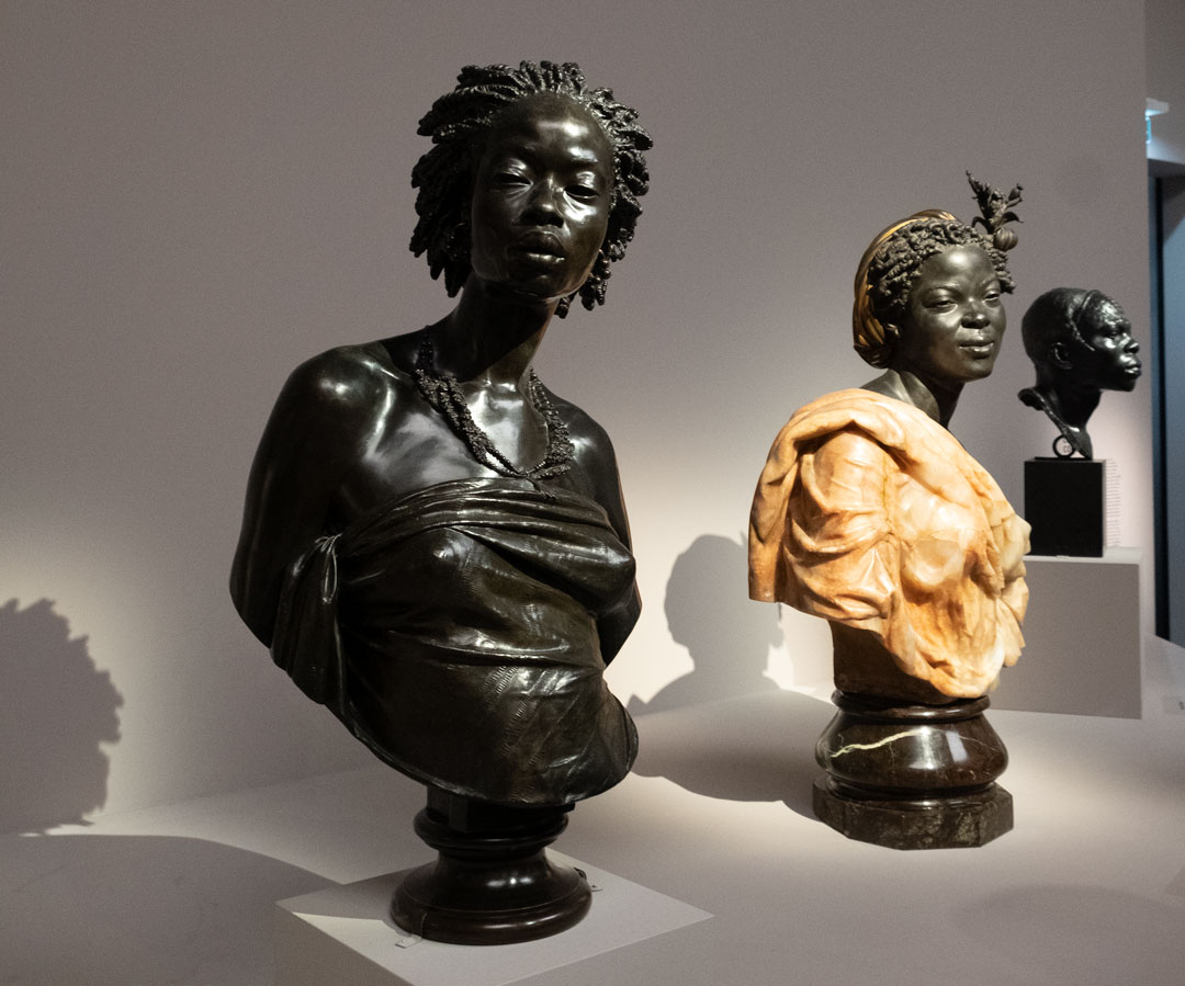 Chareles Cordier - Vénus Afrcaine, 1851 (originaly: Une Négresse / Vénus Noire) (right); Femme Des Colonies, 1861 (Originally: La Câpresse / Négresse Des Colonies) (middle)